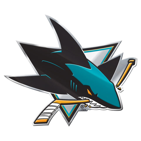 San Jose Sharks Auto or Hard Surface Emblem Decal NHL