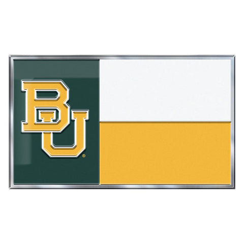 Baylor Bears Auto or Hard Surface Emblem Decal NCAA Licensed (State Flag)