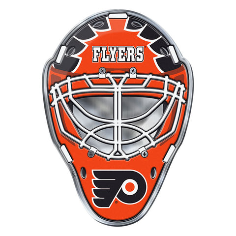 Philadelphia Flyers Hockey Mask Auto or Hard Surface Emblem Decal NHL