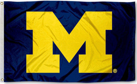 Michigan Wolverines 3' x 5' Flag (Logo Only on Blue) NCAA
