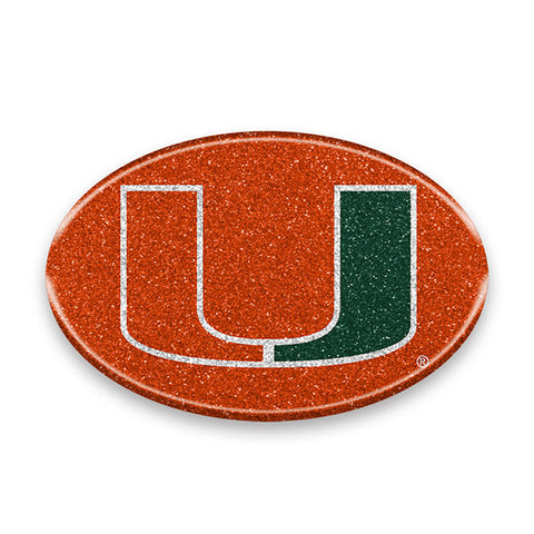 Miami Hurricanes Bling Auto or Hard Surface Emblem Decal NCAA