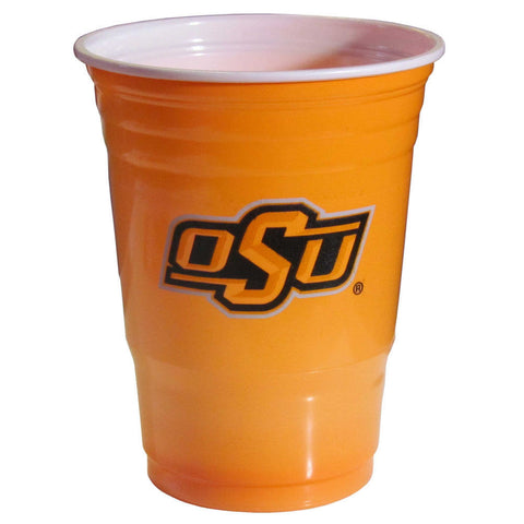 Oklahoma State Cowboys 18 count 18 oz Disposable Plastic Cups (NCAA)