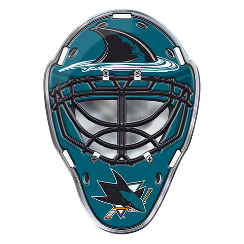 San Jose Sharks Hockey Mask Auto or Hard Surface Emblem Decal NHL