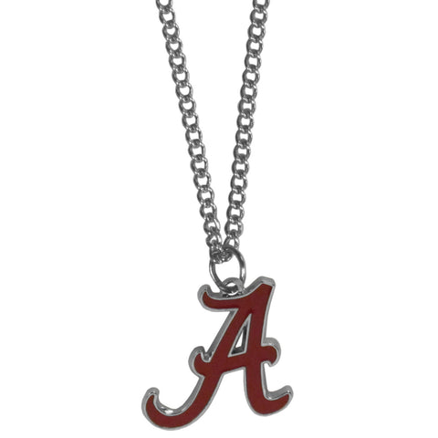 "Alabama Crimson Tide 22"" Chain Necklace Metal Logo NCAA SM"
