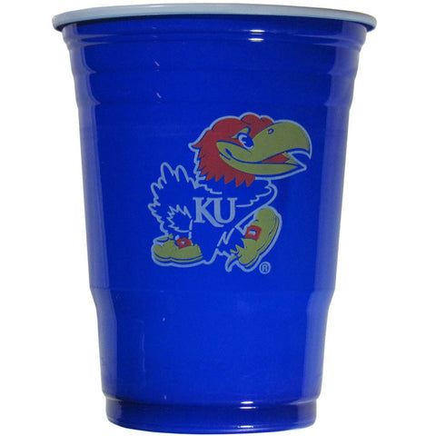 Kansas Jayhawks 18 count 18 oz Disposable Plastic Cups (NCAA)