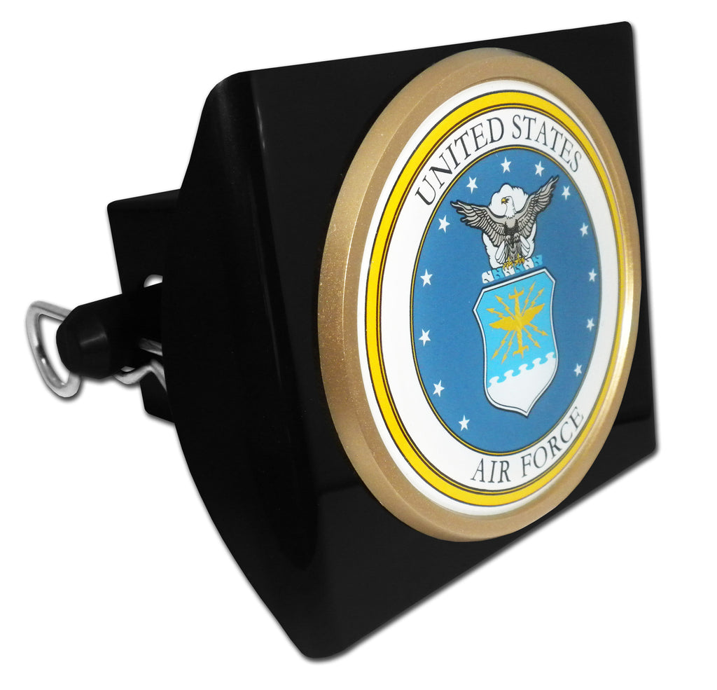 U.S. Air Force Black Plastic Hitch Cover (Seal)
