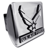 U.S. Air Force Shiny Chrome Metal Hitch Cover (Wings)