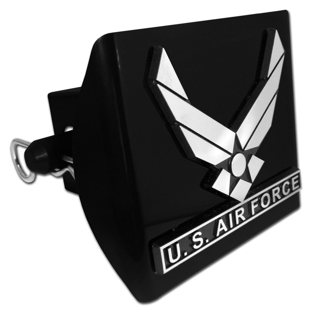 U.S. Air Force Black Plastic Hitch Cover (Wings) Licensed USAF
