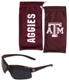 Texas A&M Aggies Blade Sunglasses With Microfiber Bag (NCAA)