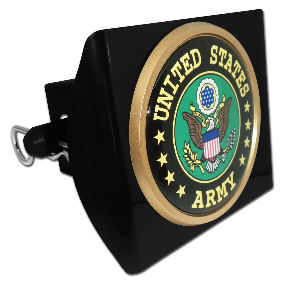U.S. Army Black Plastic Hitch Cover (Green Seal) Military Officially Licensed