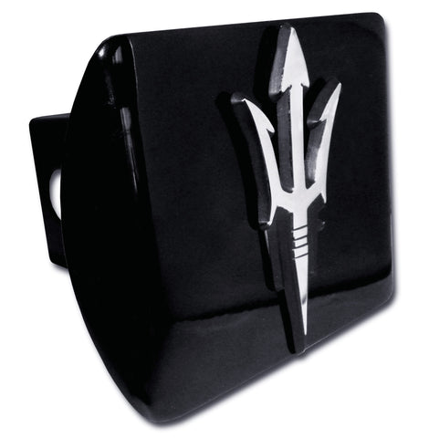 Arizona State Sun Devils Chrome Metal Black Hitch Cover (Pitchfork) NCAA