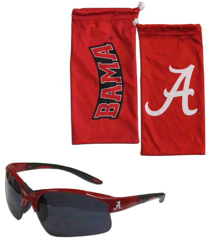 Alabama Crimson Tide Blade Sunglasses With Microfiber Bag (NCAA)