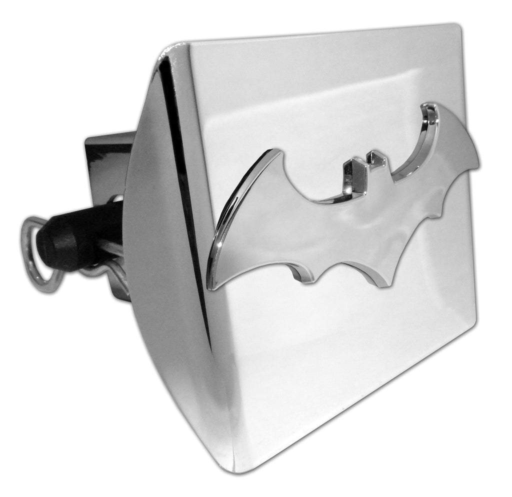 Batman Shiny Chrome Plastic Hitch Cover (3-D Bat) DC Comics