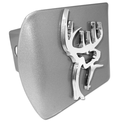 Buck Commander Brushed Chrome Metal Hitch Cover (3-D Buck)