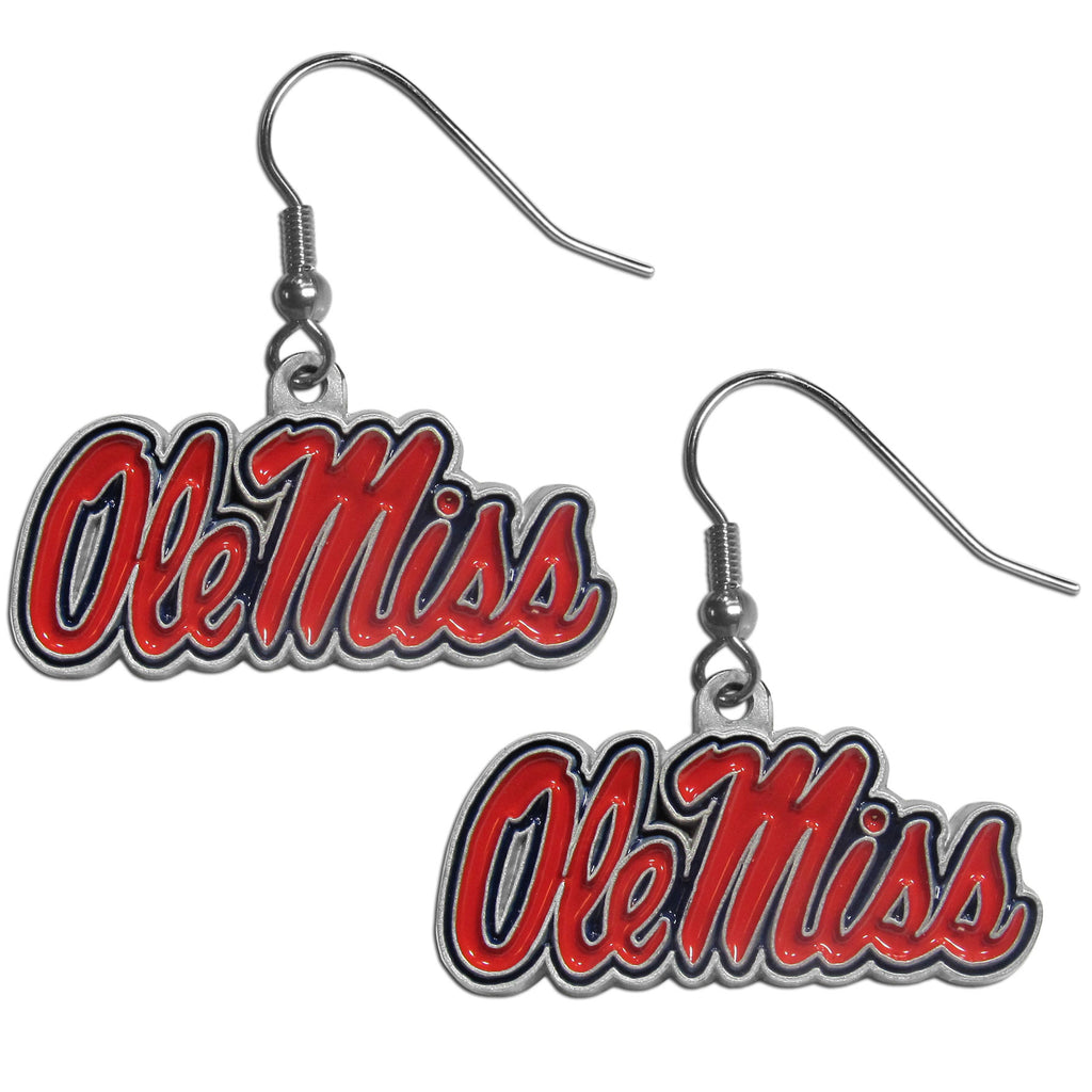 Ole Miss Rebels Dangle Earrings (Zinc) NCAA