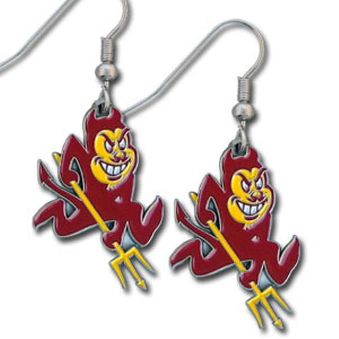 Arizona State Sun Devils Dangle Earrings (Zinc) NCAA