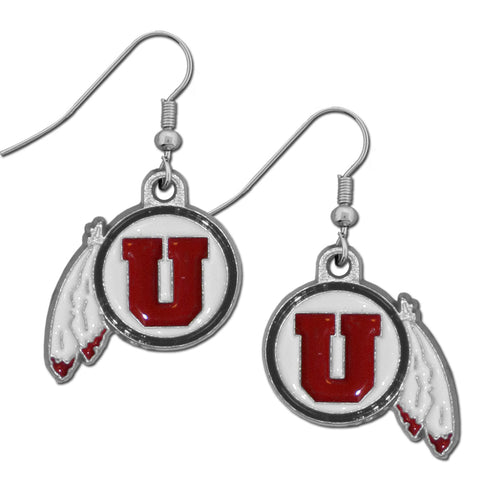 Utah Utes Dangle Earrings (Zinc) NCAA
