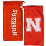 Nebraska Cornhuskers Wrap Sunglasses with Microfiber Bag (NCAA)