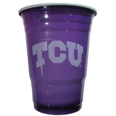 TCU Horned Frogs 18 count 18 oz Disposable Plastic Cups (NCAA)