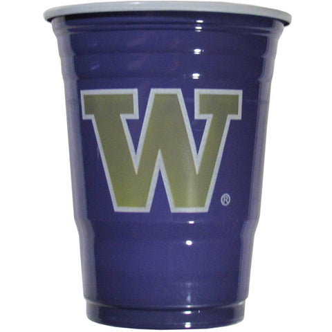 Washington Huskies 18 count 18 oz Disposable Plastic Cups (NCAA)