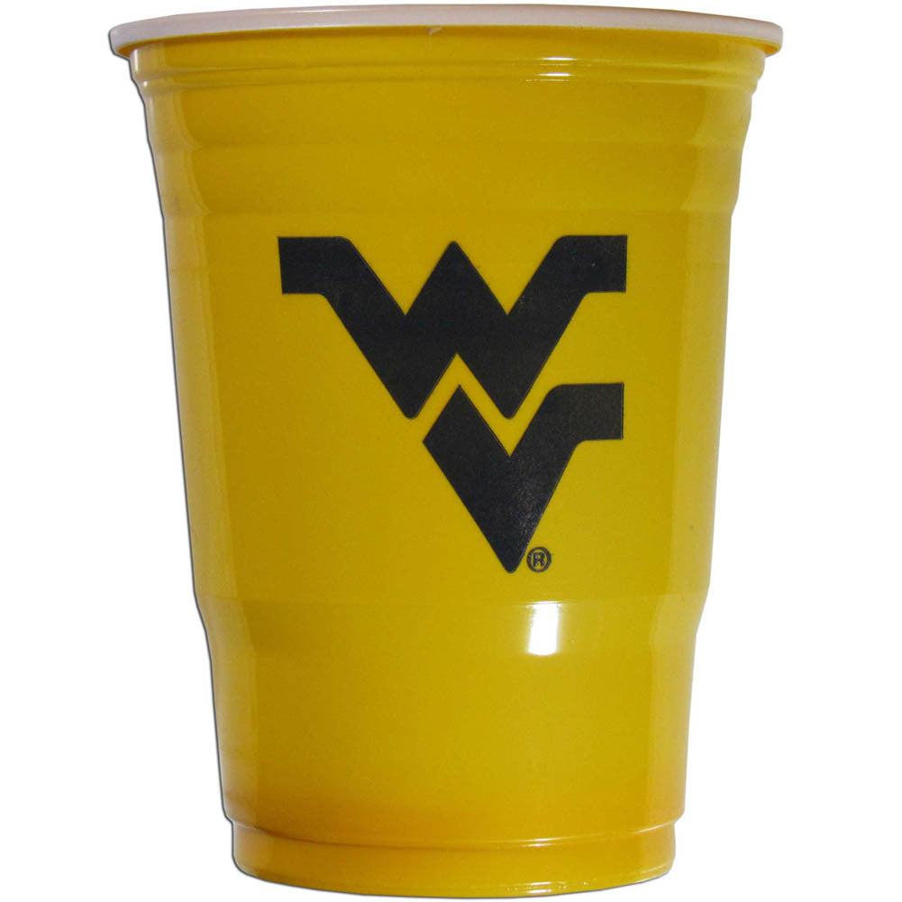 West Virginia Mountaineers 18 count 18 oz Disposable Plastic Cups (NCAA)
