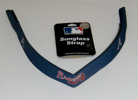 "Atlanta Braves 16"" Neoprene Sunglasses Strap MLB Licensed Croakies"