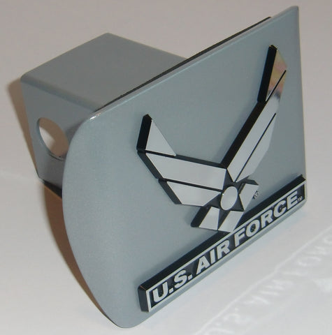 U.S. Air Force Brushed Chrome Metal Hitch Cover (Wings)