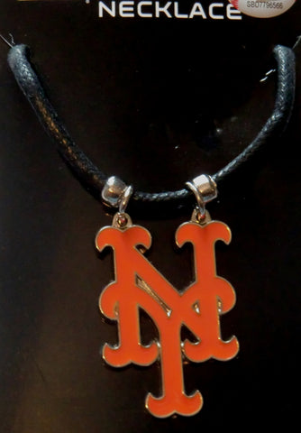 New York Mets Cord Necklace (MLB Baseball) Licensed