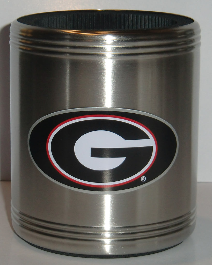 Georgia Bulldogs Insulated Stainless Steel Can Cooler Coozie (NCAA)