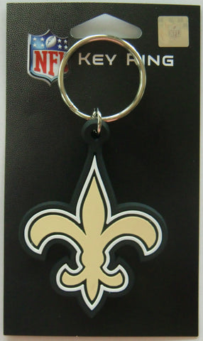 New Orleans Saints Logo Flexi Key Chain NFL Licensed Football