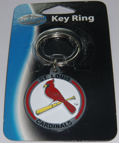 St. Louis Cardinals 3-D Metal Key Chain MLB Licensed Baseball (Round)