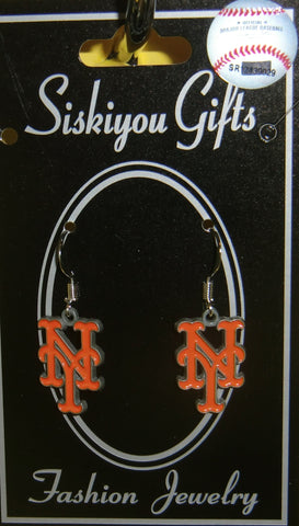 New York Mets Dangle Earrings (zinc) MLB Baseball Licensed Jewelry