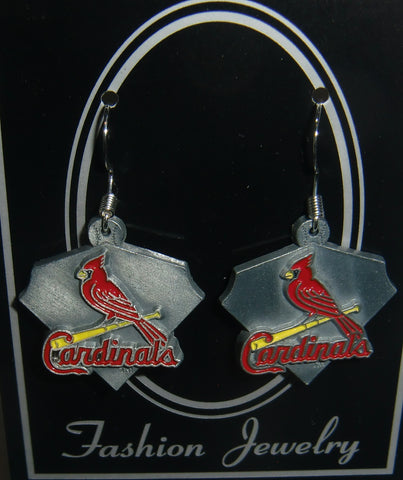 St. Louis Cardinals Dangle Earrings Licensed MLB Baseball Jewelry