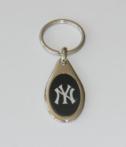 New York Yankees Etched Team Logo Metal Key Chain MLB Baseball