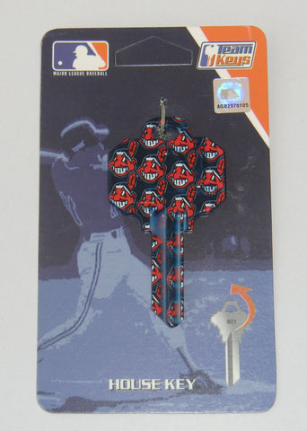 Cleveland Indians Chief Wahoo ILCO SC-1 Team Metal House Key MLB Baseball