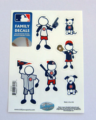 Chicago Cubs Outdoor Rated Vinyl Family Decals MLB Baseball