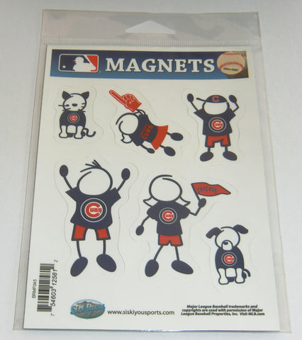 Chicago Cubs Family Magnets (set of 6) MLB Baseball