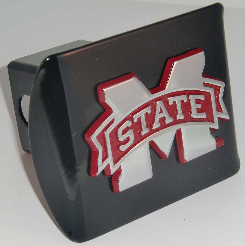 "Mississippi State Bulldogs Chrome Metal Hitch Cover (Maroon ""M"" State) NCAA"