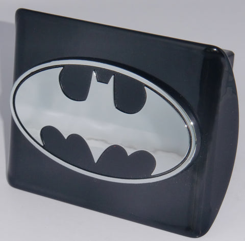 Batman Chrome Metal Black Hitch Cover (Oval) DC Comics