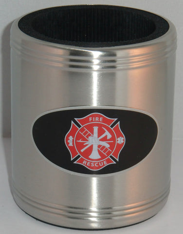 Firefighter Insulated Stainless Steel Can Cooler Coozie (Occupational)