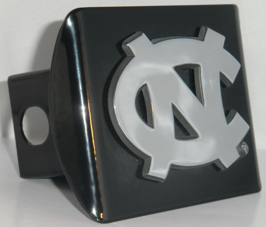 "North Carolina Tar Heels Chrome Metal Black Hitch Cover (""NC"") NCAA"