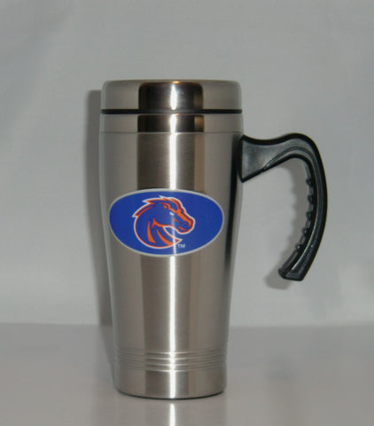 Boise State Broncos 14 oz Stainless Steel Travel Mug with Handle (NCAA)