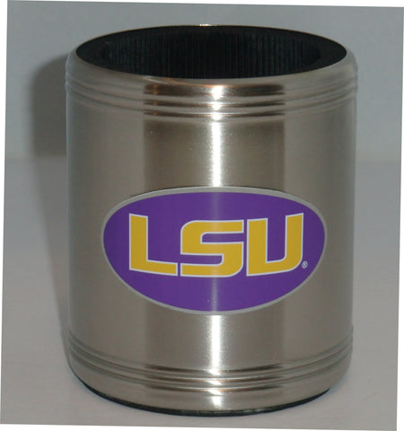 LSU Tigers Insulated Stainless Steel Can Cooler Coozie (NCAA)