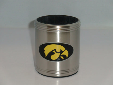 Iowa Hawkeyes Insulated Stainless Steel Can Cooler Coozie (NCAA)