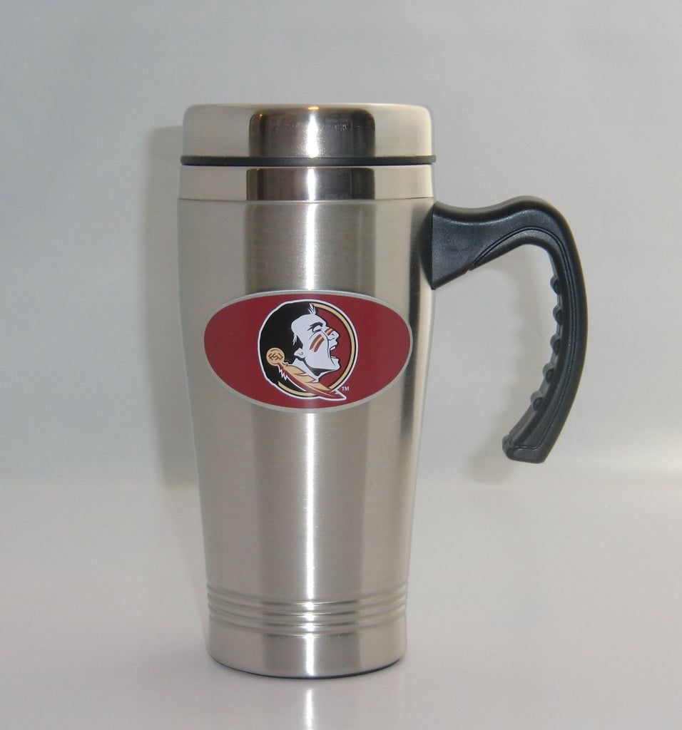 Florida State Seminoles 14 oz Stainless Steel Travel Mug with Handle (NCAA)