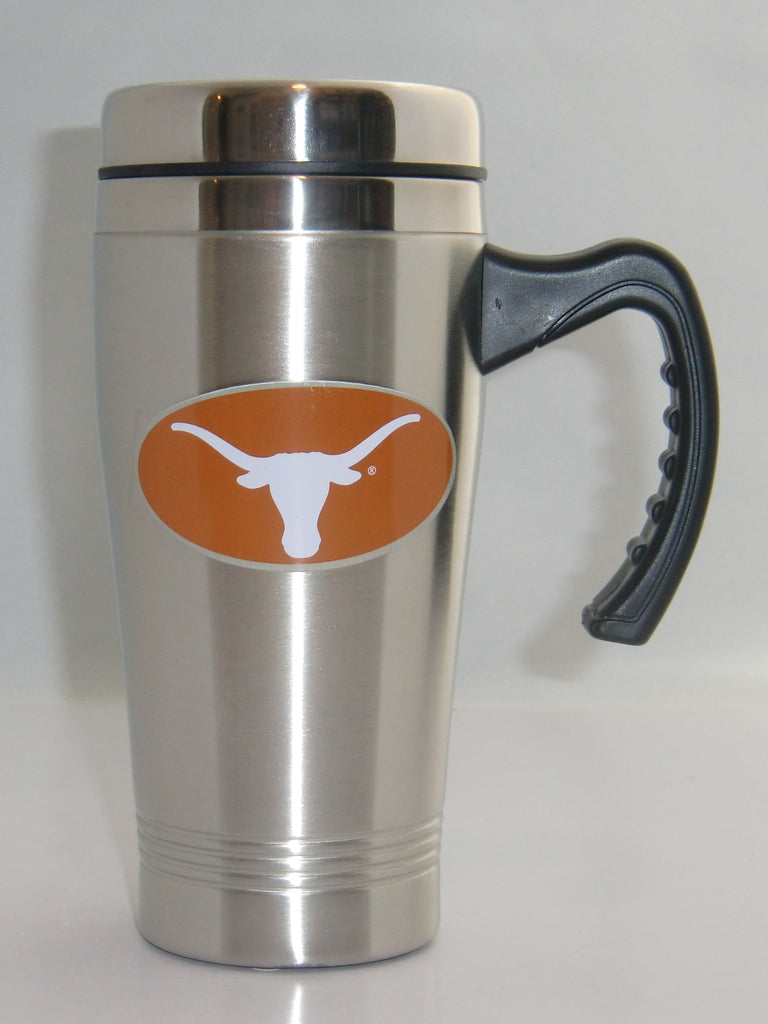 Texas Longhorns 14 oz Stainless Steel Travel Mug with Handle (NCAA)