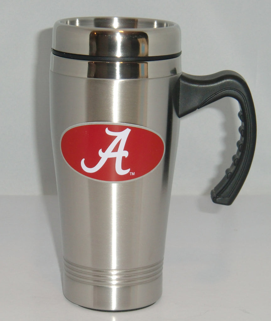 Alabama Crimson Tide 14 oz Stainless Steel Travel Mug with Handle (NCAA)