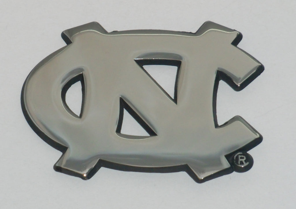 "North Carolina Tar Heels Chrome Metal Auto Emblem (""NC"") NCAA"