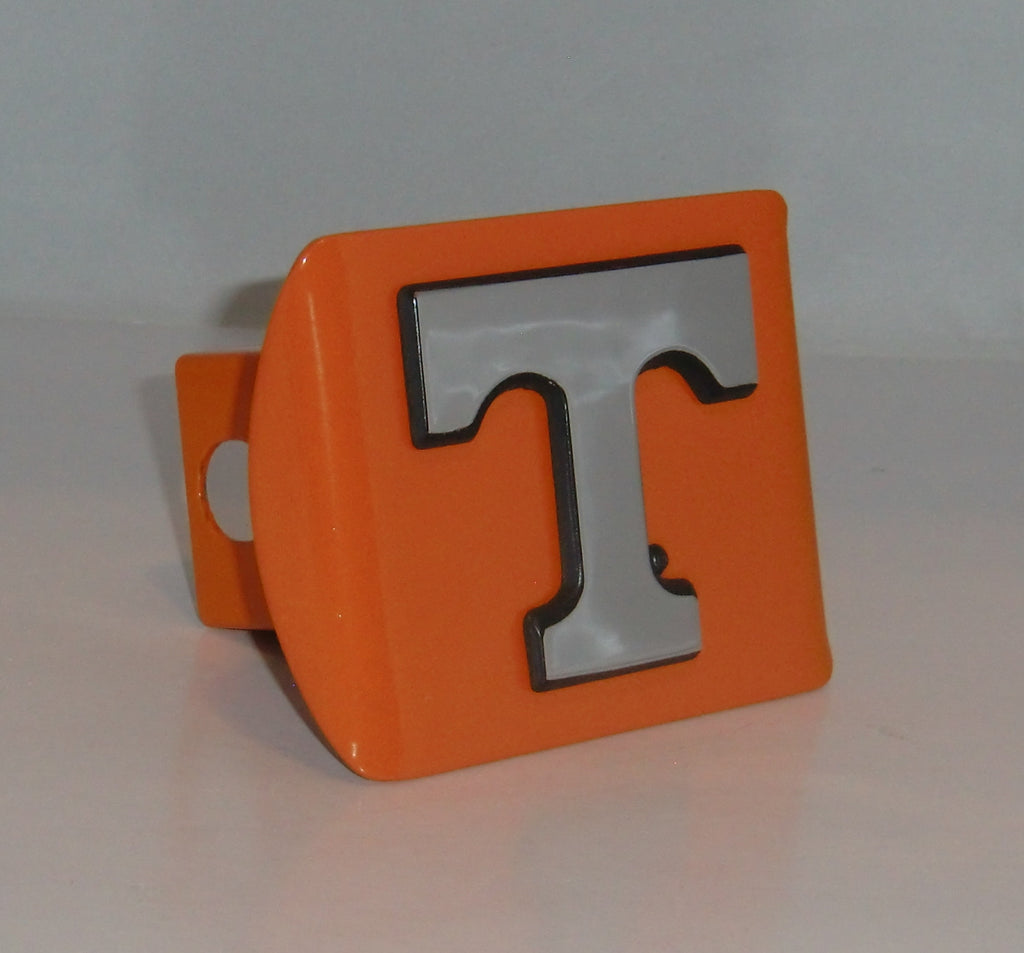 "Tennessee Volunteers Chrome Metal Orange Hitch Cover (""T"") NCAA"