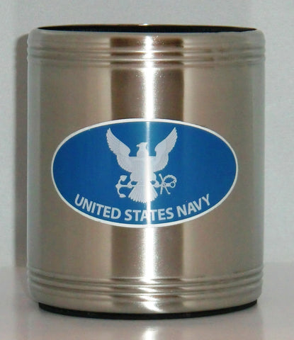 U.S. Navy Insulated Stainless Steel Can Cooler Coozie (Military) USN